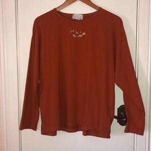 Mandala Bay burnt orange long sleeved tee shirt